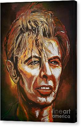 Canvas Print featuring the painting  Tribute To David by Andrzej Szczerski