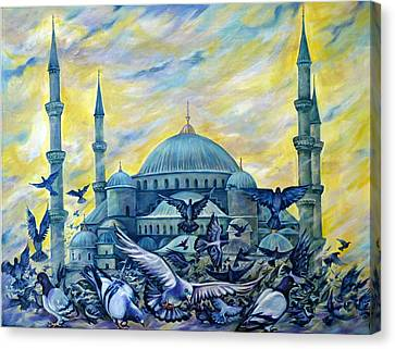 Turkey. Blue Mosque Canvas Print by Anna Duyunova