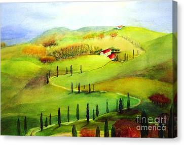 Tuscany Canvas Print by Maryann Schigur