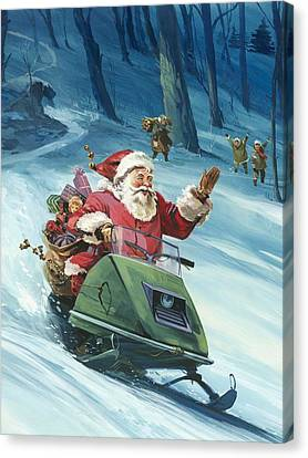 Twentieth Century Santa  Canvas Print by English School