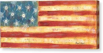 U.s. Flag Vintage Canvas Print