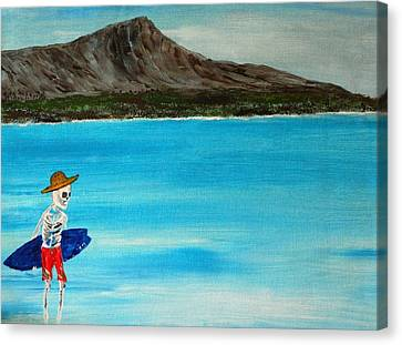 Vamos A La Playa Canvas Print by Everette McMahan jr