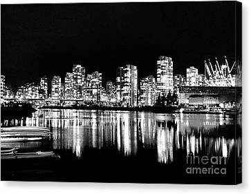 Vancouvers Silver Lining  Canvas Print by Dean Edwards