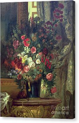 Consoling Canvas Print -  Vase Of Flowers On A Console by MotionAge Designs