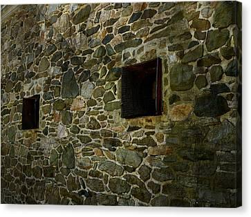 Radnor Canvas Print -  Vintage Stone Wall In Radnor  Pa by Heinz G Mielke