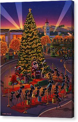 Ant Canvas Print -  Visiting Santa Anta  by Robin Moline