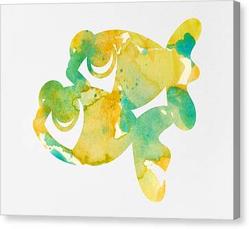 Watercolor Painting For Nurseries - Twins Canvas Print by Nursery Art