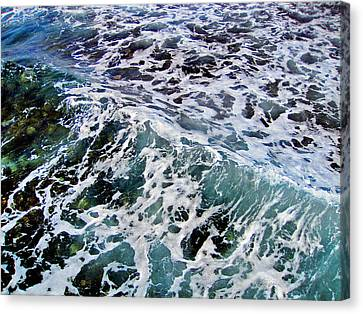 Wave Texture.  Sea.    Canvas Print by Andy Za