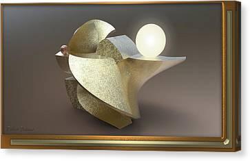 ' Wavy Cut Sculpture Light ' Canvas Print