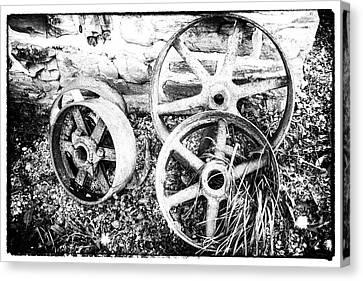 Wheels Of Wades Mill Canvas Print
