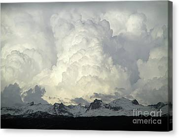 Canvas Print featuring the photograph  Windriver Storm by Edward R Wisell