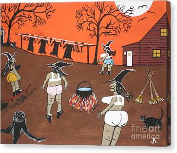 Witches Wash Day Canvas Print