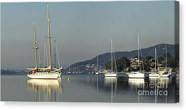 Yacht  Reflections.original Exclusive Photo Art. Canvas Print by Geoff Childs