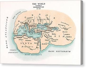 World Map Canvas Print by Granger