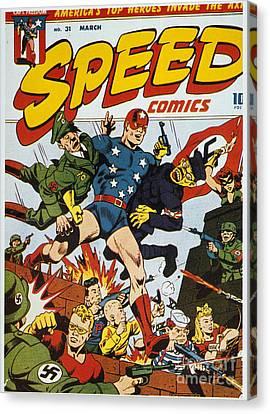 World War II: Comic Book Canvas Print