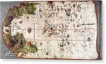 Nina: World Map, 1500 Canvas Print by Granger