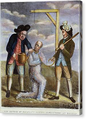 Tarring & Feathering, 1774 Canvas Print by Granger