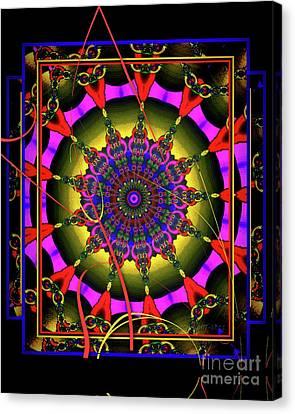 002 - Mandala Canvas Print by Mimulux patricia no No