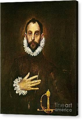 El Greco: Gentleman Canvas Print by Granger