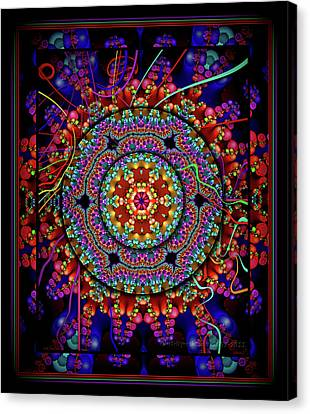 003 - Mandala Canvas Print by Mimulux patricia no No