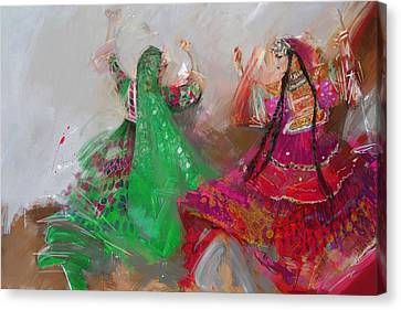 Punjab Canvas Print - 003 Pakhtun B by Maryam Mughal
