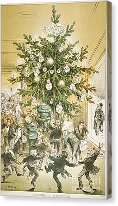 Treasury Cartoon, 1883 Canvas Print by Granger