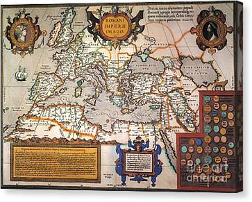 Map Of The Roman Empire Canvas Print by Granger