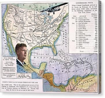 Charles Lindbergh Canvas Print by Granger