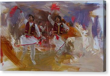 Punjab Canvas Print - 004 Pakhtun B by Maryam Mughal