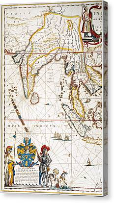 South Asia Map, 1662 Canvas Print by Granger