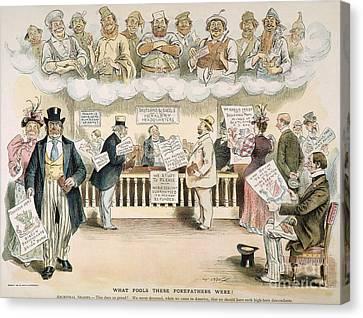 Descendant Canvas Print - Foolish Forefathers, 1894 by Granger