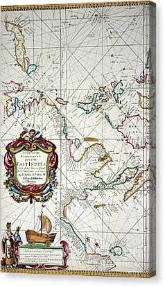 East Indies Map, 1670 Canvas Print by Granger