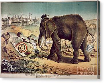 Office Seekers 1885 Canvas Print by Granger