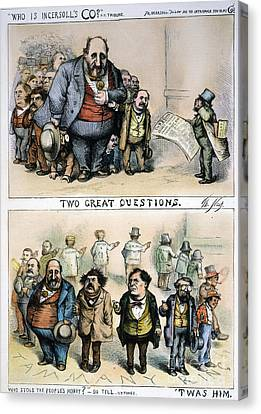 Nast: Tweed Corruption Canvas Print by Granger
