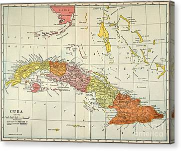 Map: Cuba, 1900 Canvas Print by Granger