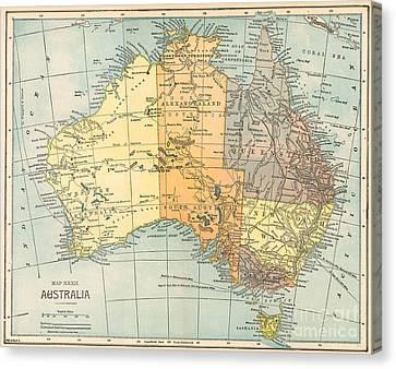 Map: Australia, C1890 Canvas Print by Granger