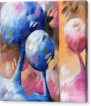 Inspirational. Pointillism Canvas Print - 007 Arbres by Beatrice BEDEUR