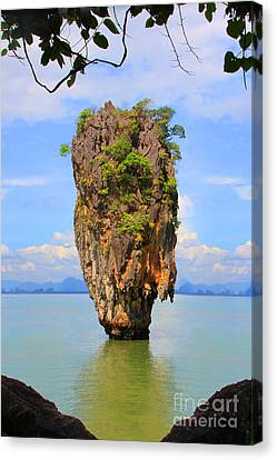 007 Island Canvas Print by Mark Ashkenazi