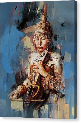 011 Kazakhstan Culture Canvas Print by Maryam Mughal