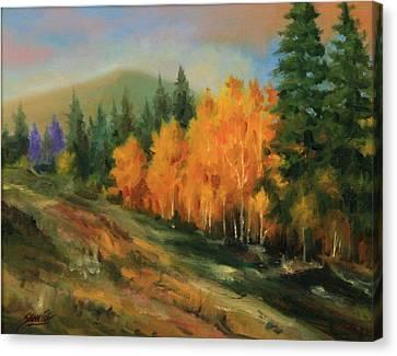 011016-1114  Autumn Aspens Canvas Print by Kenneth Shanika