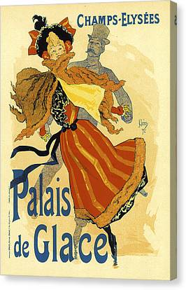 Palais De Glace Ice Palace Canvas Print by Edward Penfield