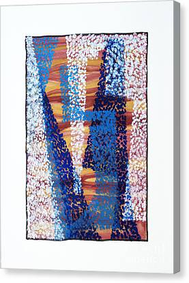 01325 Blue Too Canvas Print by AnneKarin Glass