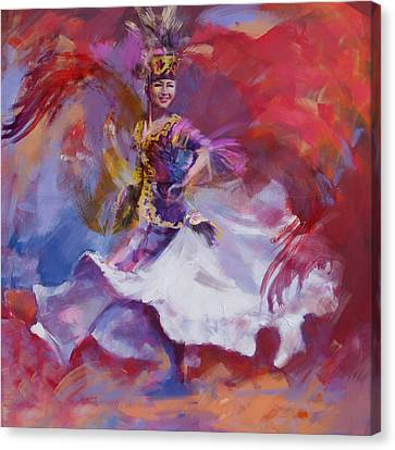 014 Kazakhstan Culture Canvas Print by Maryam Mughal