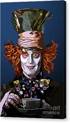 Mad Hatter Canvas Print - 015. What Can You Do by Tam Hazlewood