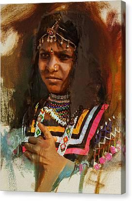 025 Sindh B Canvas Print by Maryam Mughal