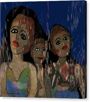 025 - Three  Young Girls   Canvas Print