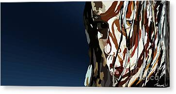 028. Bullet In The Brain Pan Squish Canvas Print by Tam Hazlewood