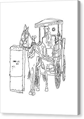 04061025 Horse And Buggy Canvas Print by Garland Oldham