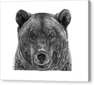 Canvas Print featuring the drawing 045 Papa Bear by Abbey Noelle