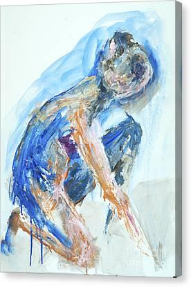 04955 Gardener Canvas Print by AnneKarin Glass